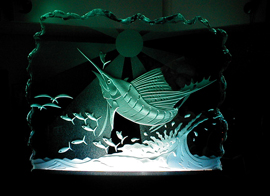 Art Glass Sailfish