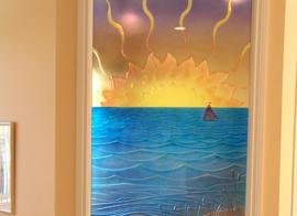Custom Glass Large Ocean