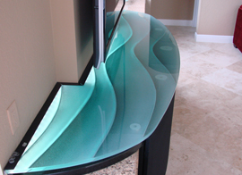 Glass Cutting Colored Table