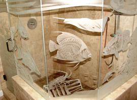 Glass Sandblasting Fish